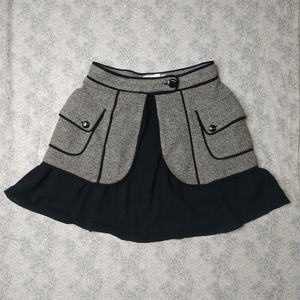 NWOT BCBGENERATION black & grey mini skirt 2